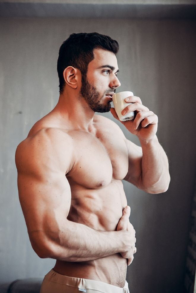 Image result for sexy men drinking coffee