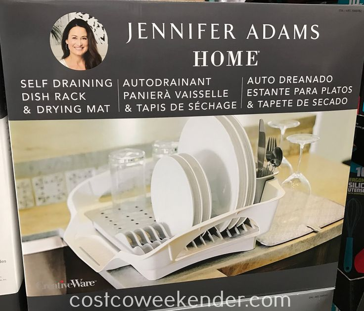 jennifer adams home self draining dish rack drying mat item 1049782 at costco homegoods. Black Bedroom Furniture Sets. Home Design Ideas