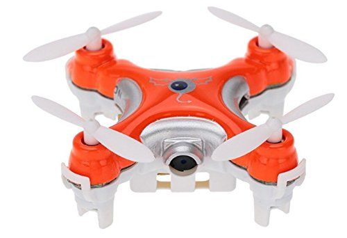 Cheerson CX-10C Mini 2.4G 4CH 6 Axis Nano RC Quadcopter with Camera -Orange *** Details can be found by clicking on the image.