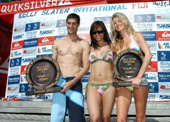 Perry Farrell Kelly Hu and Marisa Miller