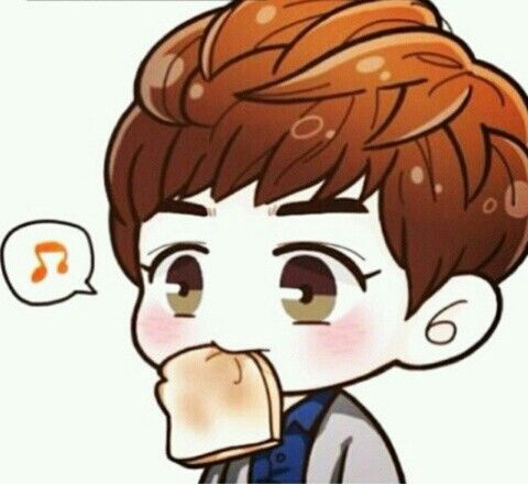 Chanyeol with Toast :3 ♥ (credit: see logo on picture, i own nothing)