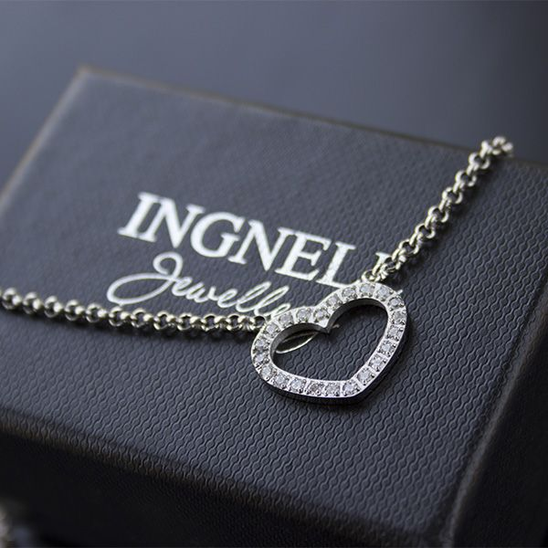 Heart necklace from Ingnell Jewellery. Stainless steel. #heart #necklace #steel #jewelry #www.ingnelljewellery.com