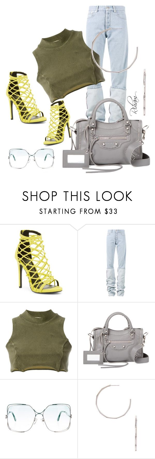 """Untitled #530"" by cremebruleelatte ❤ liked on Polyvore featuring Wild Diva, Y/Project, Yeezy by Kanye West, Balenciaga and Melissa Kaye"