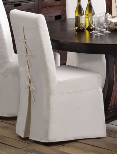 Details About Dining Chair Slipcover In White Id 1648575