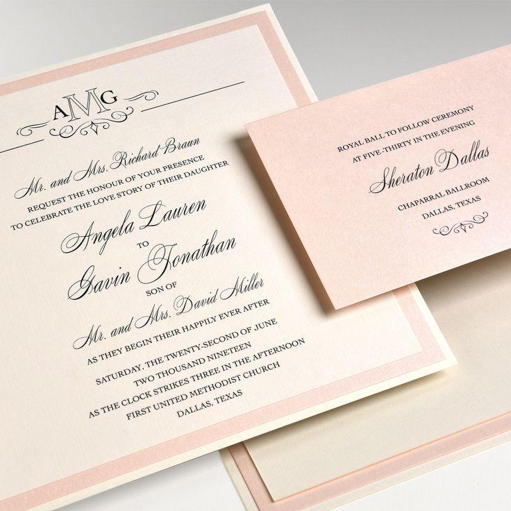101 best Formal Elegant Wedding Invitations images on Pinterest ...