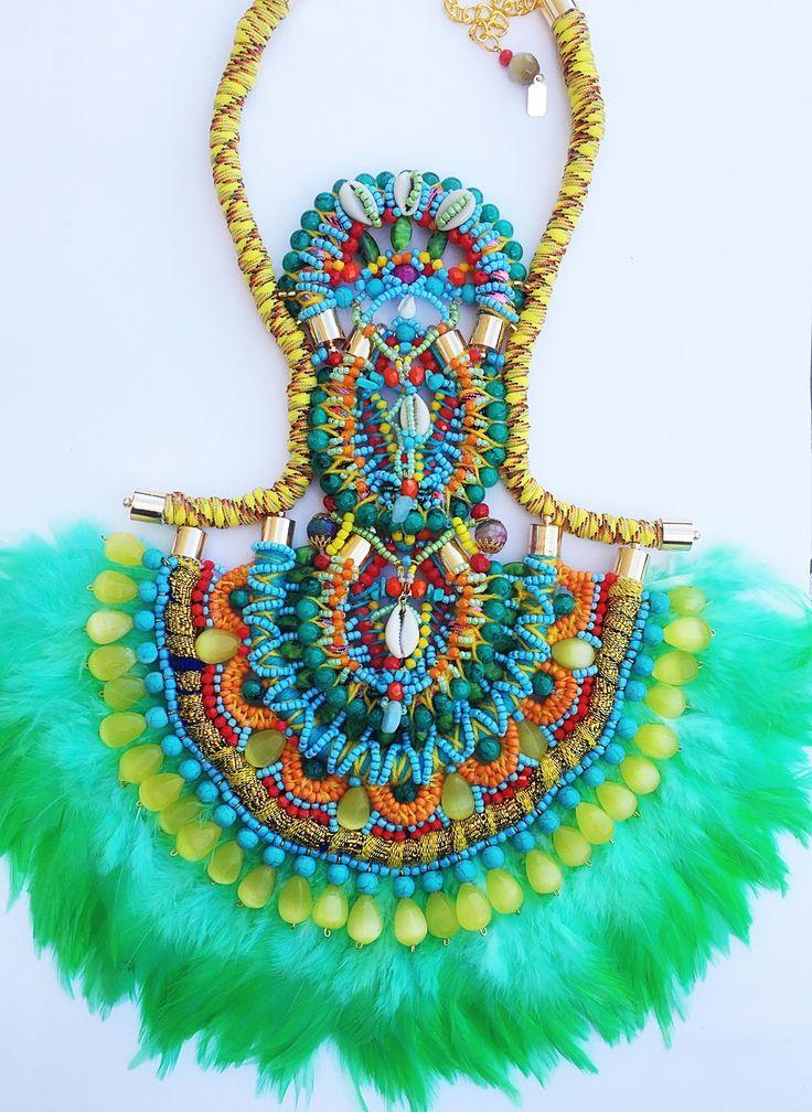 Kandiya feather necklace