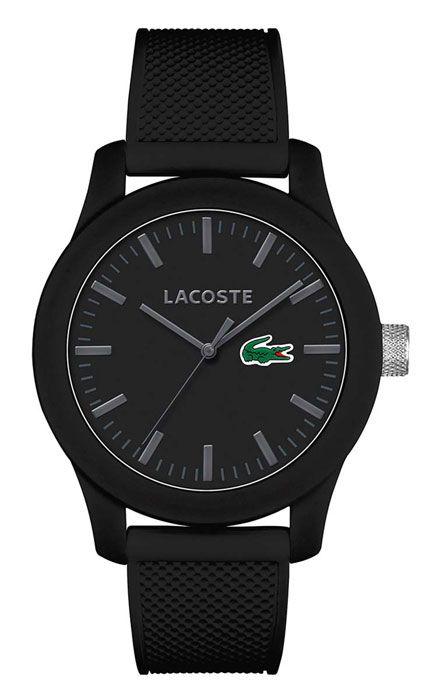 Lacoste Armbanduhr für Herren: Schwarzes Silikonarmband, wasserdicht bis 3 bar. Serie: Poloshirt. Jetzt versandkostenfrei mit 100 Tage Rückgabemöglichkeit und Tiefpreisgarantie bei Uhren4You.de bestellen!