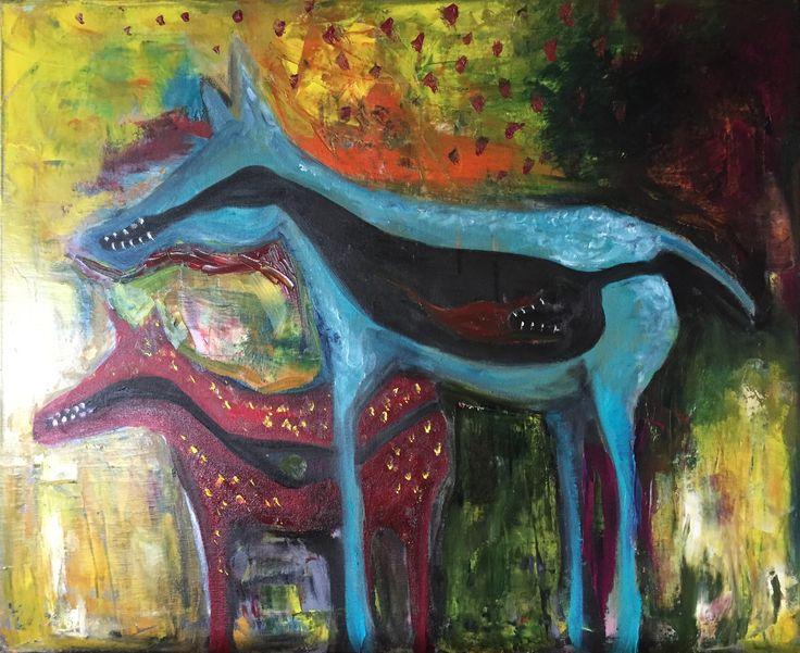 Soul Eaters, 2016 oil on canvas Anu Pensola