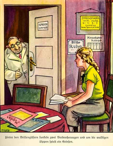 """Der Giftpilz is a children's book published by Julius Streicher in 1938. The title is German for """"the toadstool"""" or """"the poisonous mushroom."""" Inge's Visit to a Jewish Doctor"""