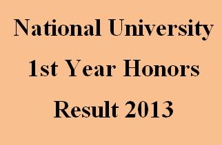 National University 1st Year Honors Result 2013 has been published on March 04, 2015. So grab your result by clicking here instantly.