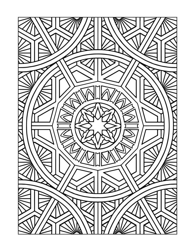 modern art coloring pages | Inspired Modern Art Designs : Coloring Books for Grownups ...