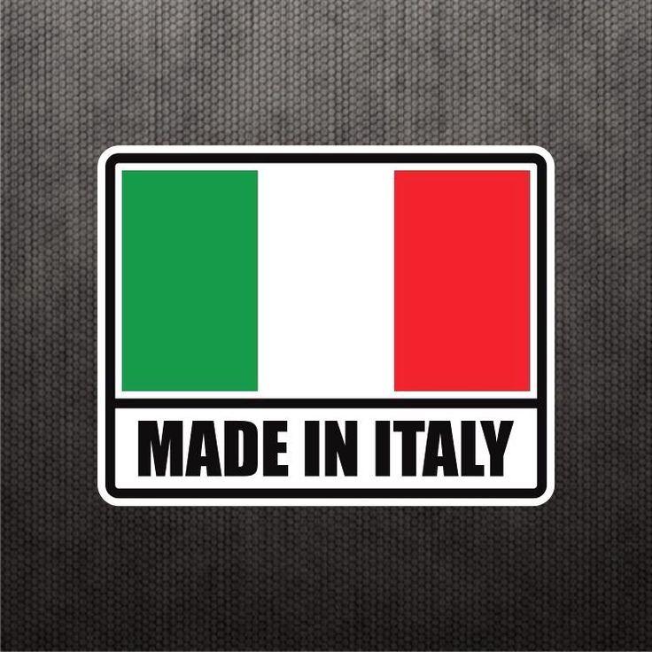 Made In Italy Flag Sticker Vinyl Decal Italian Car Sticker For Fiat Ducati Bike #3M