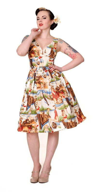 I'm not saying I got this dress today. But I did. Sassy pinup girls in short shorts frolicking by a lake - LOVE <3