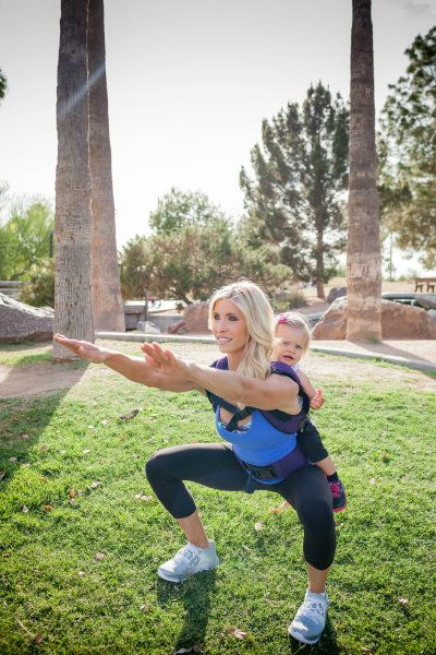 Heidi Powell's baby wearing workout