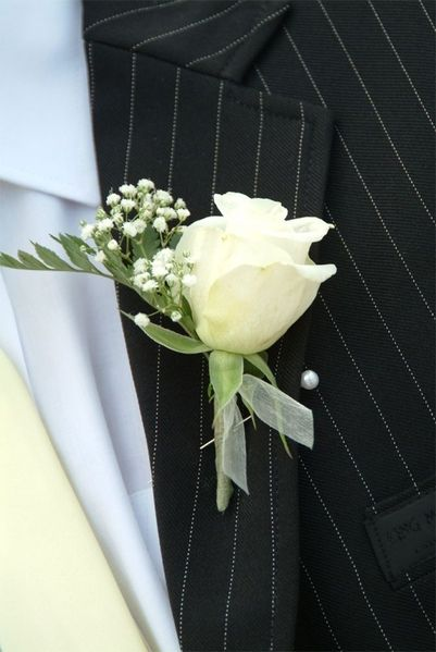Image detail for -Ivory Roses Buttonholes - Med Weddings Express