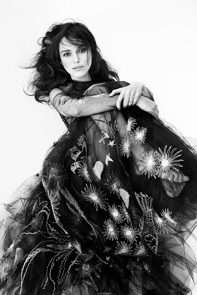 Keira Knightley. Gown by Valentineo. Photo by Patrick Demarchelier.