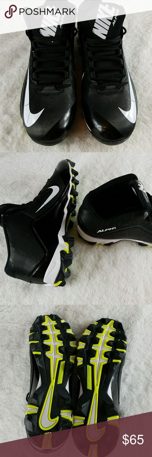 NIKE Alpha FastFlex black & white football cleats New without box or tags! [A1S] Never been worn. Nike Shoes Athletic Shoes