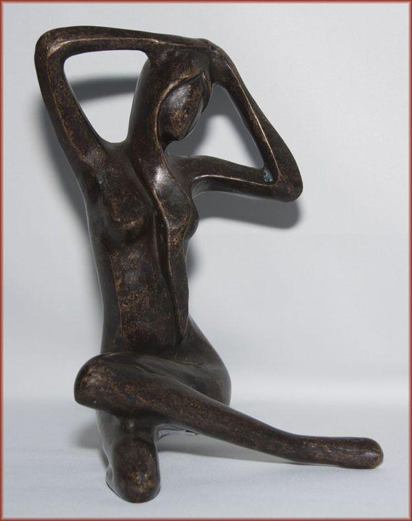 Cute Bronzeskulptur moderner Frauakt Dekoration f r Haus und Garten