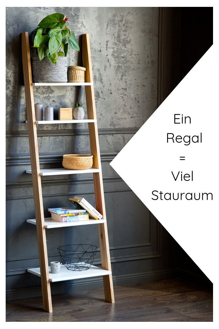 Buy Ladder Shelf Wood In Modern Colors Online Leiterregal Holz