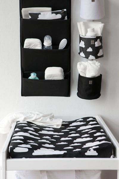 Black and white: a good idea for a nursery theme when you are keeping the gender a surprise! #ConvertToBlack - Add pops of Blue or Pink after babys Birth!