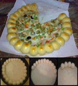 Pizza fourrés au fromage - Recette de cuisine