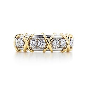 Schlumberger Sixteen Stone ring in 18k gold with diamonds.