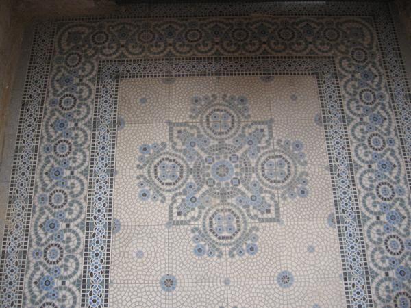 Grote foto oude antieke tegels vloertegels cementtegels f20 bouw industrie stenen en tegels - Lino imitatie oude tegel ...