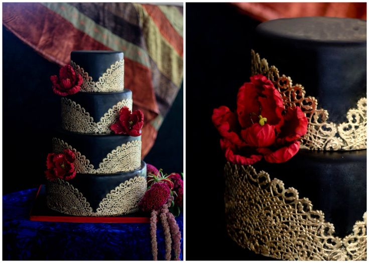 wedding cake gorgeous, but i don't want to eat anything black