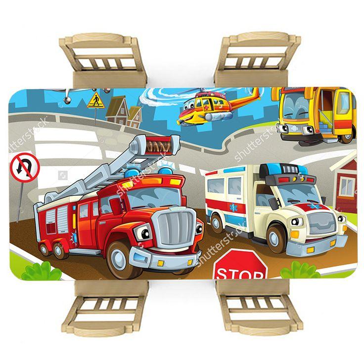 Tafelsticker Druk verkeer | Maak je tafel persoonlijk met een fraaie sticker. De stickers zijn zowel mat als glanzend verkrijgbaar. Geschikt voor binnen EN buiten! #tafel #sticker #tafelsticker #uniek #persoonlijk #interieur #huisdecoratie #diy #persoonlijk #kinderkamer #kind #peuter #kleuter #verkeer #brandweer #brandweerwagen #brandweerauto #helicopter #auto #illustratie #cartoon