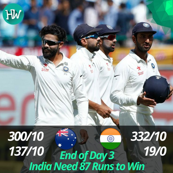 What a fascinating day of Test cricket we witnessed! India are poised to win this match. #INDvAUS #IND #AUS #cricket