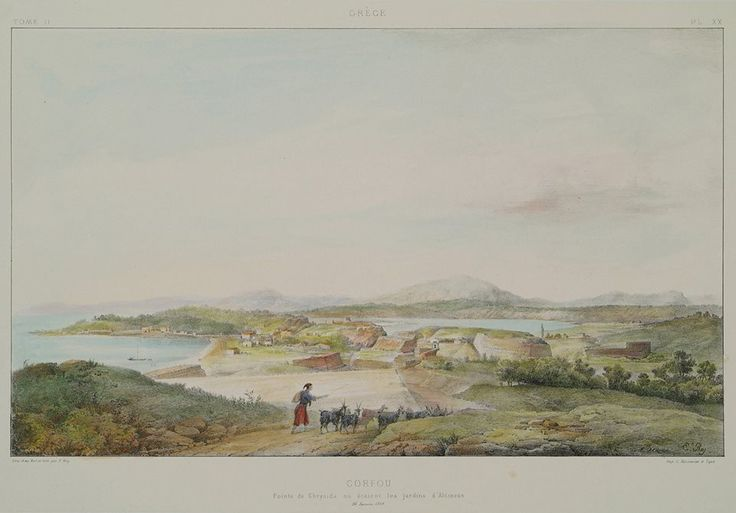Kορυφή της Χρυσίδας όπου βρίσκονταν οι κήποι του Αλκίνοου (1867).