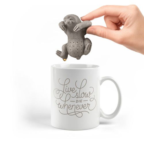 Take a break from your frantic pace and let SLOW BREW make you the ideal cup of tea. This sweet sloth infuser is made of heat-resistant, BPA- and phthalate-free silicone and...