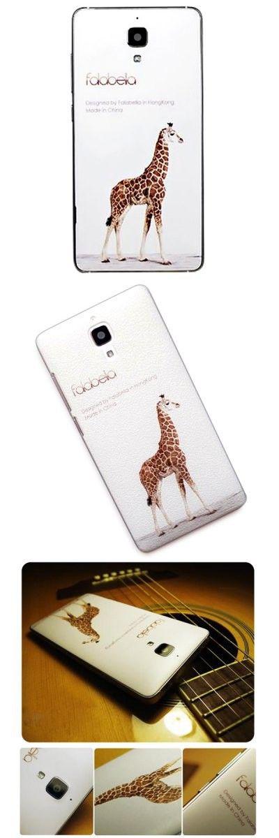 Falabela Giraffe Pattern 3D Coloured Sculpture Protective Case for Xiaomi 4 -$9.79