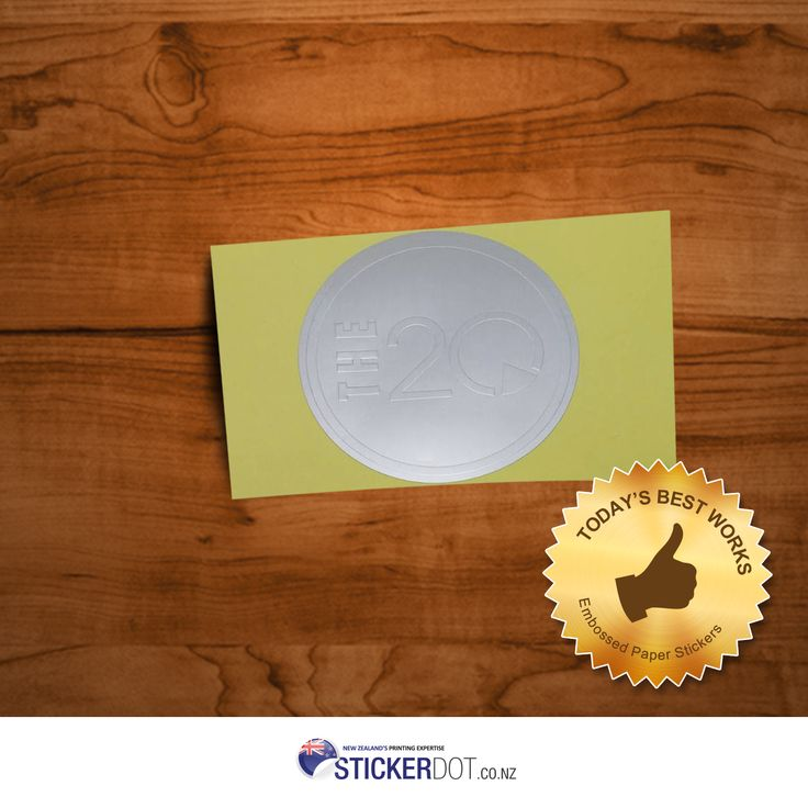 Add a special touch on your stickers with our Embossed Paper Stickers. Send your artwork now! Visit us for more details now!