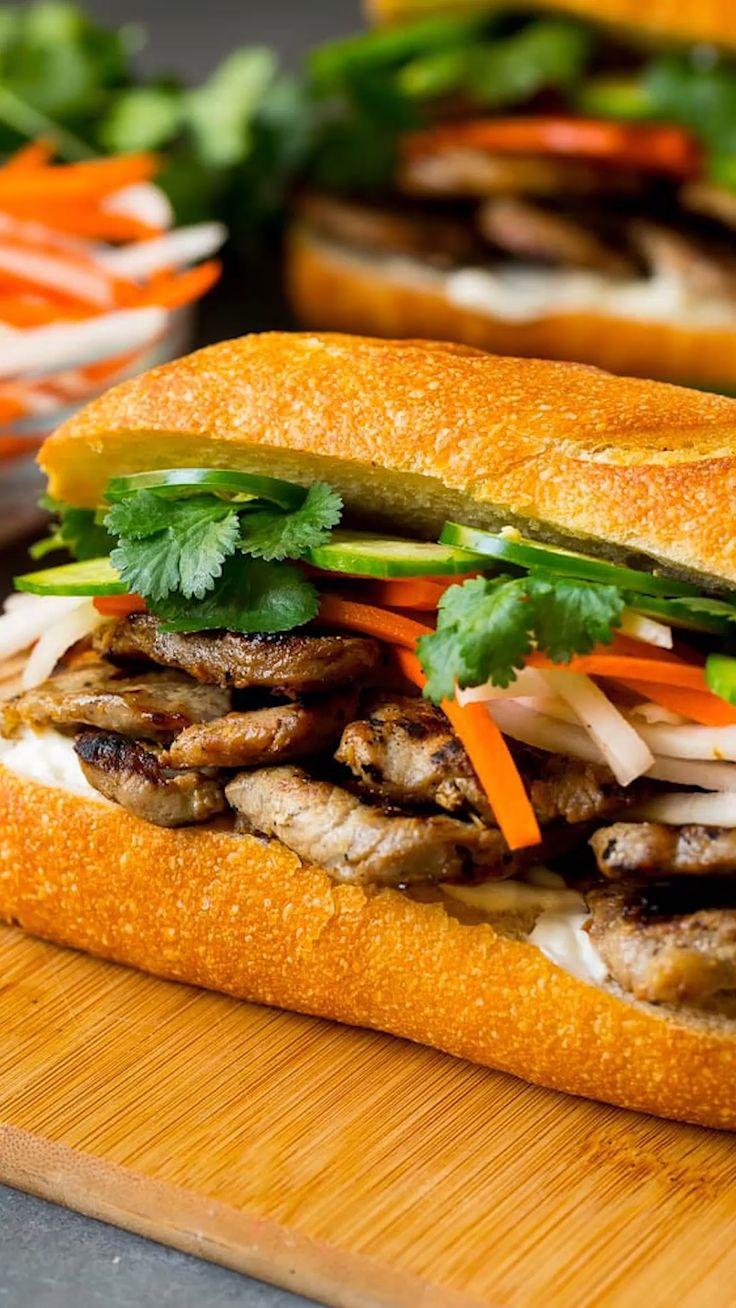 Bahn mi sandwich video in 2020 sandwiches recipes
