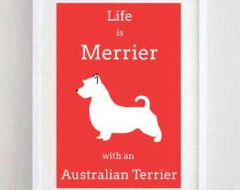 Australian Terrier Print - Dog Art - Dog Poster - Terrier Print - Dog Picture - Dog Breed - Wall Art