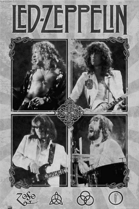 Led Zeppelin. Jimmy Page, Robert Plant, John Paul Jones & John Bonham