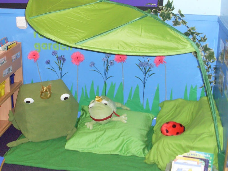 safe place Reading garden classroom display