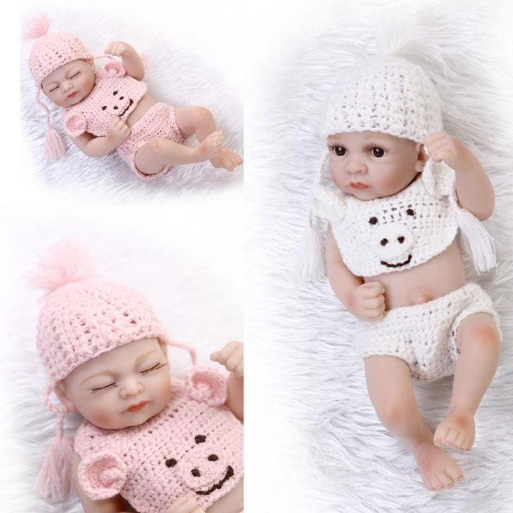 31.45$  Watch now - http://aim1q.worlditems.win/all/product.php?id=32647181708 - 27CM Mini reborn cheap dolls full body silicone newborn babies kids toys girls gift