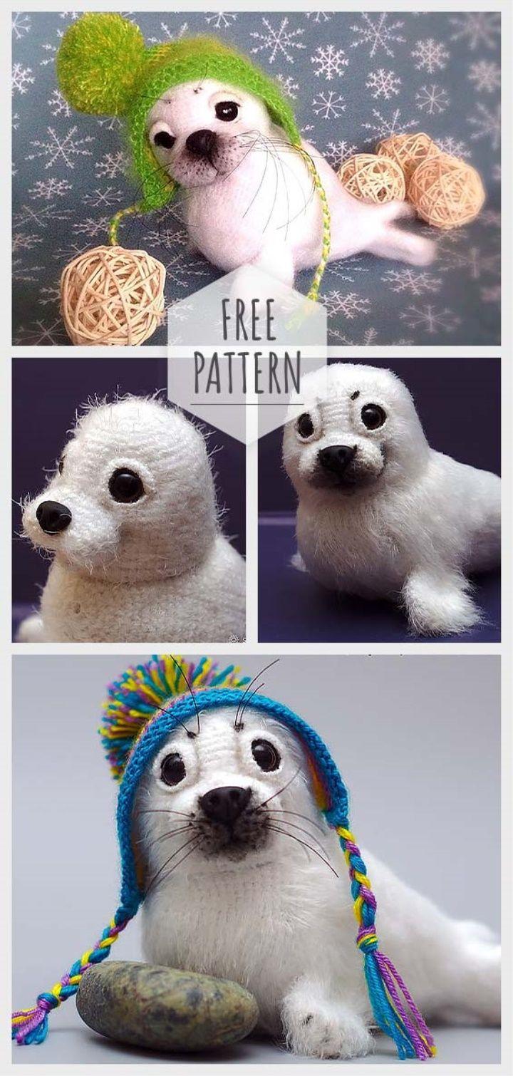 Amigurumi Monk Seal Free Pattern – Leslie Potashner