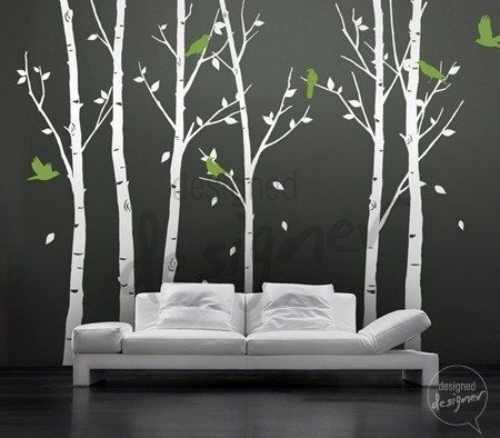 Tree Wall Decals- I did these in my bedroom and was so pleased with them.  They are a little time consuming to put up, but are easy and look