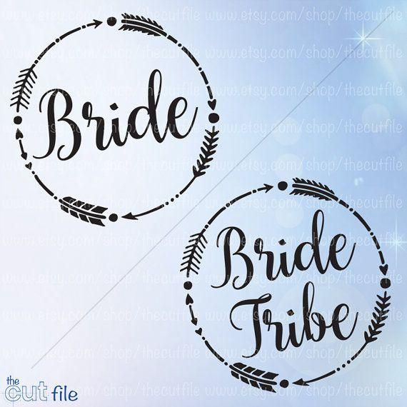 Bride Tribe Svg Wedding Svg Bundle Arrow Frame Svg By