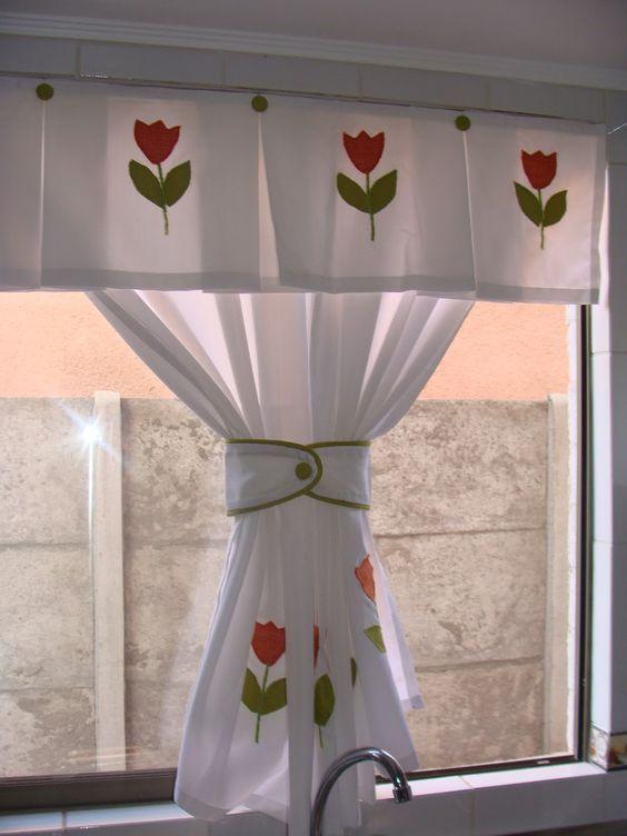 Aprende a confeccionar cortinas de cocinas con patrones - Cenefas cocinas modernas ...