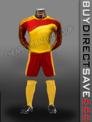 Striker Discount Football Kit Yellow/Red