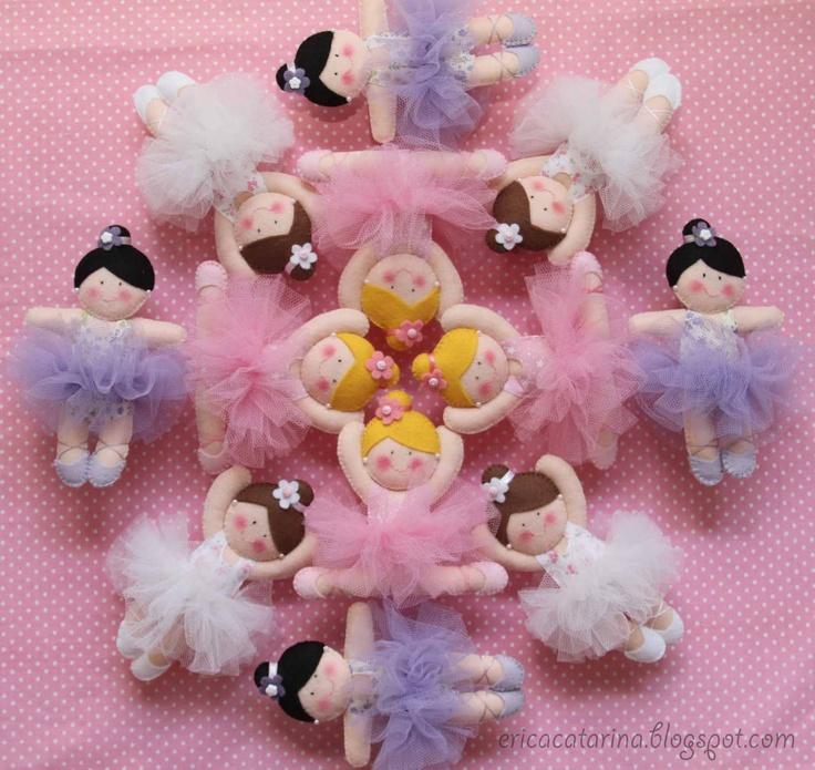 Beautiful felt ballerinas by Erica Caterina! Ei Menina!
