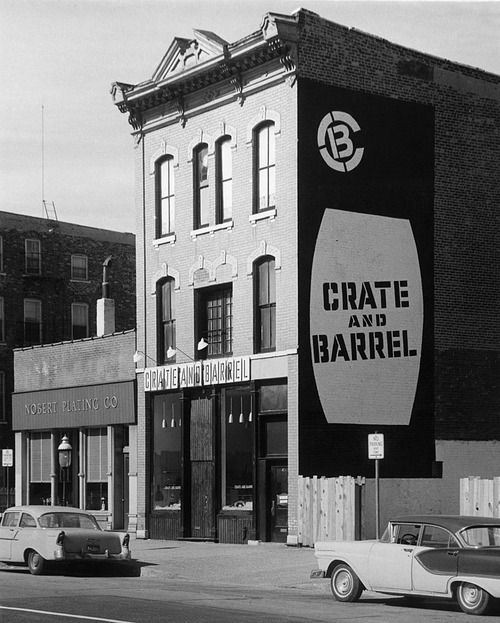 The very first Crate and Barrel, 1514N Wells, 1963, Chicago Chicago History Museum