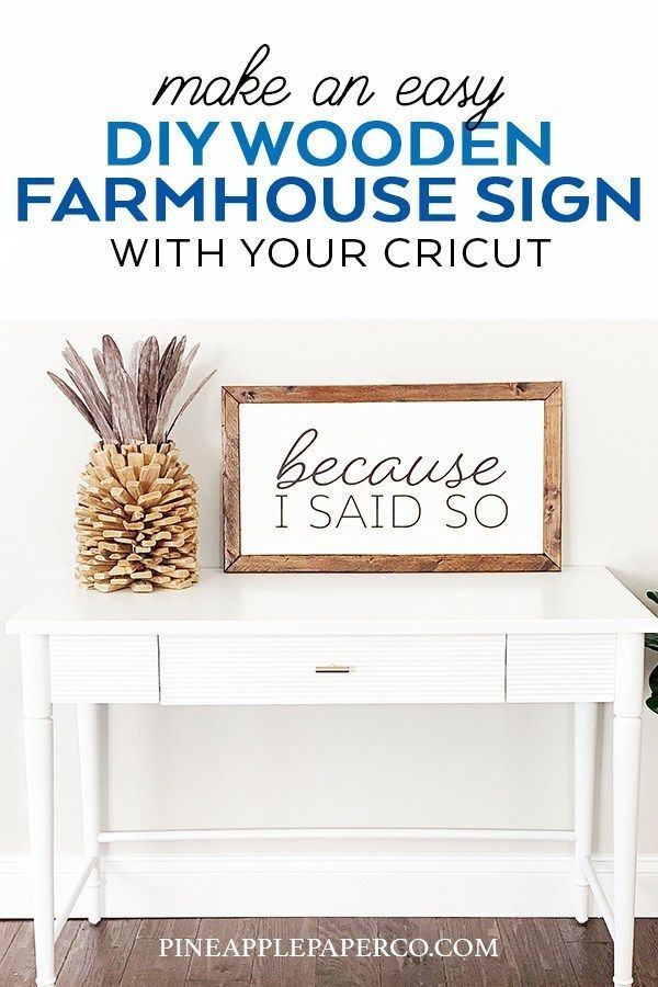 Easy Diy Wooden Farmhouse Sign With Your Cricut Wooden Diy