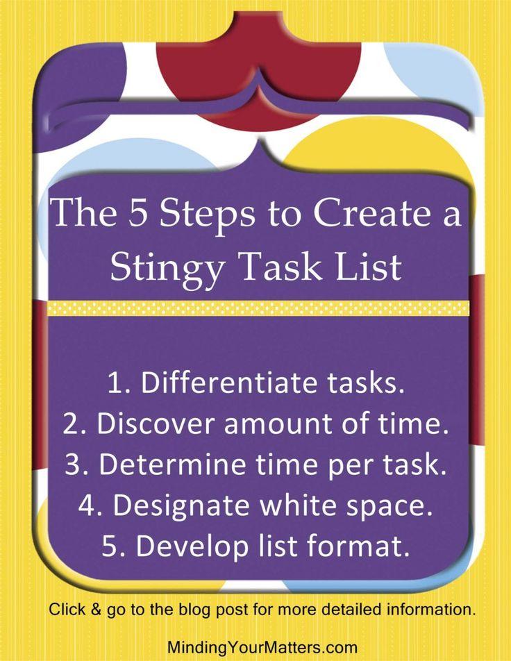 77 best Stop Task-Overwhelm! images on Pinterest Entrepreneur - task list format