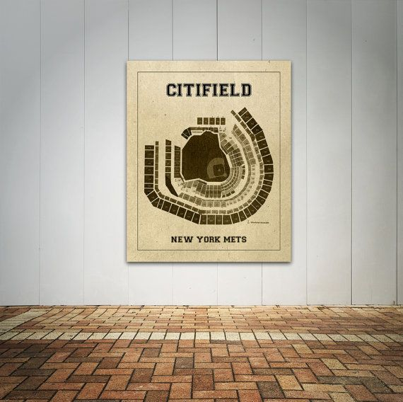 Vintage Print of Citifield New York Mets Seating by ClavinInc