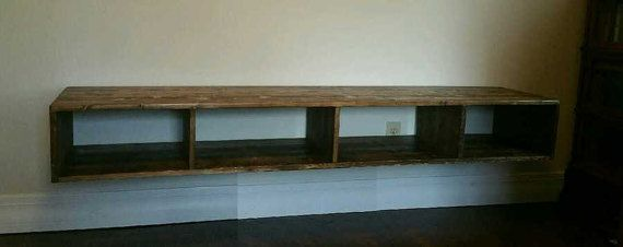 Floating Media / Entertainment Center by NaturalDesigns4U on Etsy